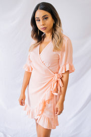 Valley Tales Wrap Dress Peach