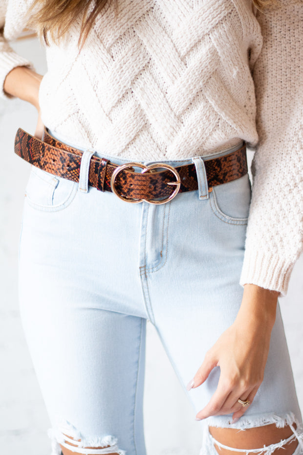 Double Ring Snake Belt