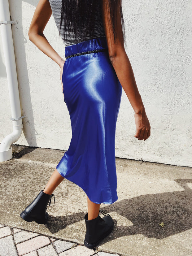 Smooth Like That Midi Skirt Violet