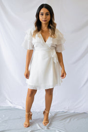 Inspired Taste Wrap Dress Ivory