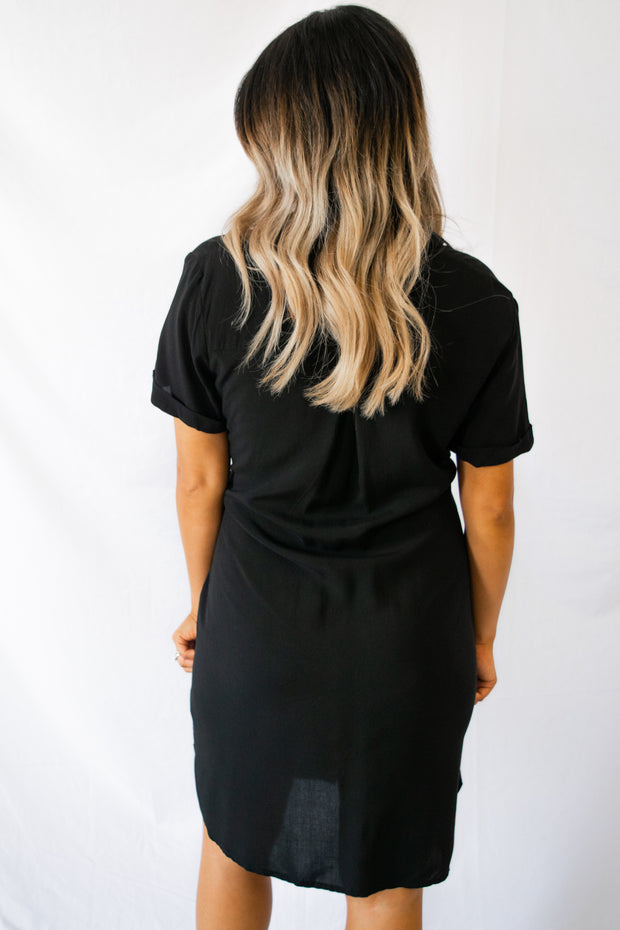 Better Button Up Dress Black