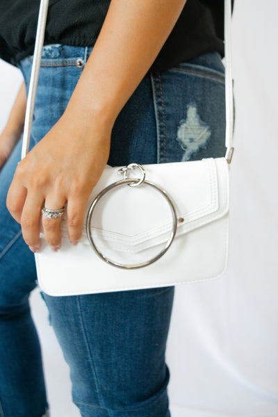 Metallic Ring Crossbody Bag