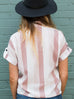 Strawberries & Cream Striped Top - Shellsea