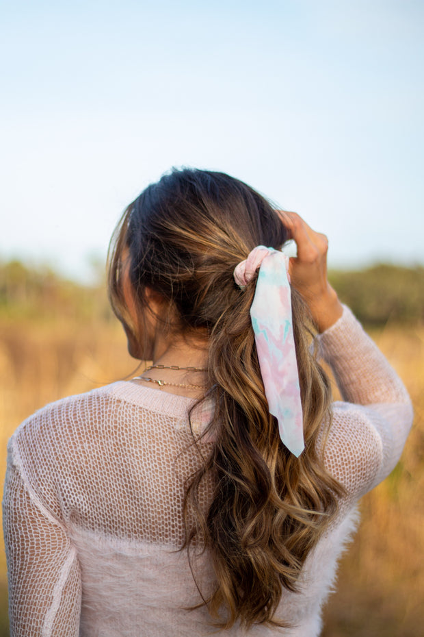 Printed Tail Scrunchie