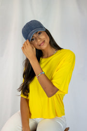 Savanna Oversized Top Yellow