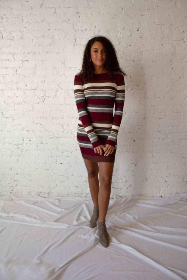 Hit Repeat Striped Sweater Dress