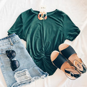 Flick Of The Twist Crop Top Green