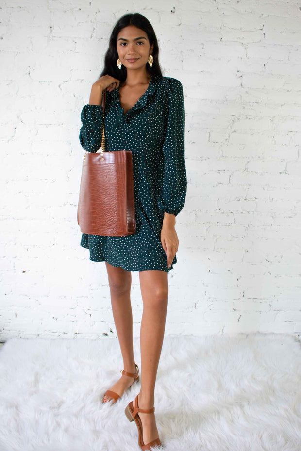 Get Spotted Dress Green