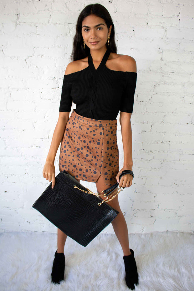 In The Mood Mini Skirt Brown