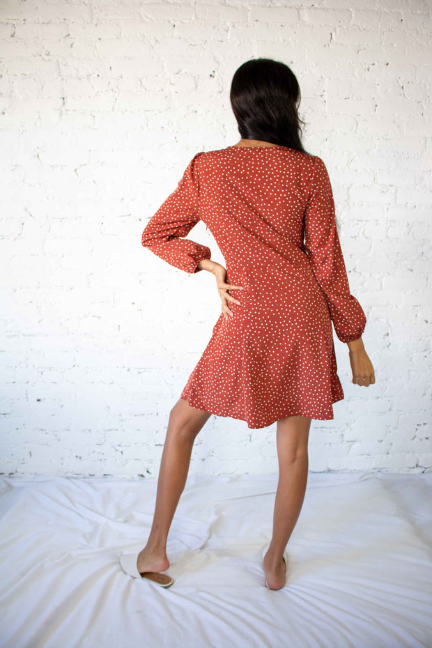 Get Spotted Dress Rust