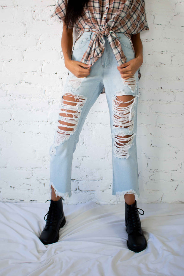 Stevie High Waisted Jeans Light Wash