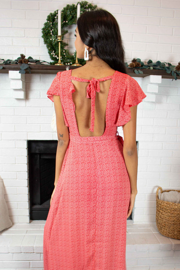 Much To Love Maxi Dress Red