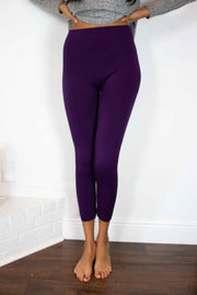 Great Lengths High Waisted Leggings Purple