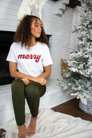 Merry Graphic Tee White