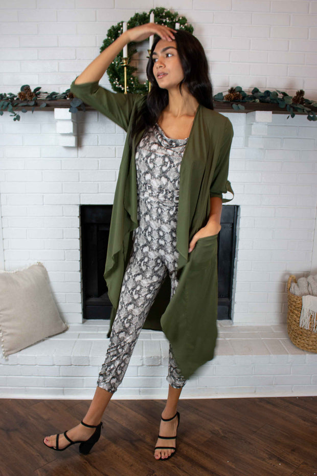 Still In Love Duster Olive