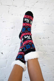 Reindeer Snow Christmas Socks