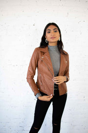 The Last Time Moto Jacket Cognac