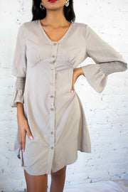 On The Spot Dress Taupe