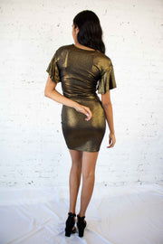 Your Time to Shine Dress Gold