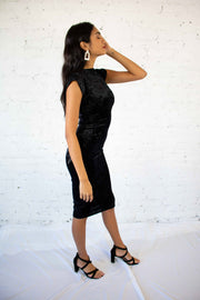 Timeless Touch Velvet Dress Black