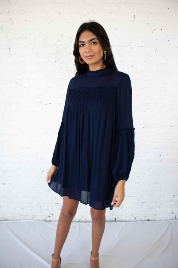 Weekend Plans Dress Navy
