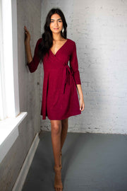 Sparkle a Convo Dress Wine