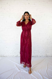 Stunning Wonder Maxi Dress Burgundy