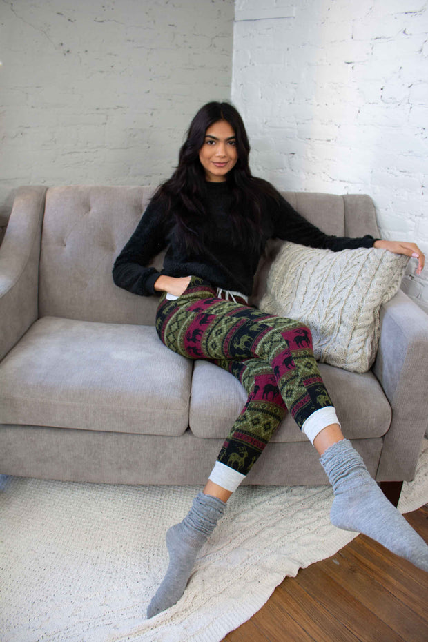 Festive Holiday Joggers Olive