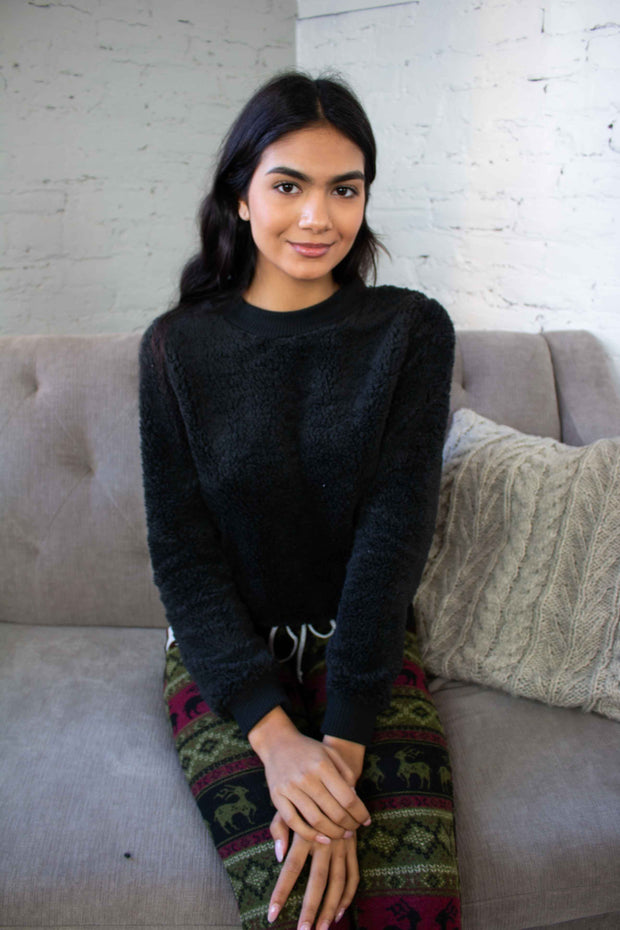 Warm and Fuzzy Feeling Sweater Black
