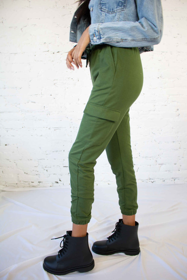 Hang Around Here Joggers Olive