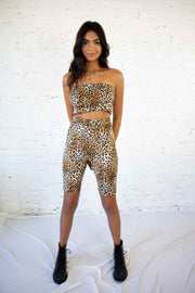 On The Wild Side Biker Shorts