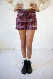Mad for Plaid Shorts Wine