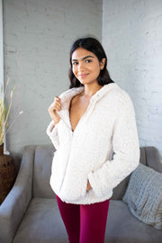 Easy Fuzz It Sherpa Jacket Oatmeal