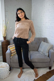 Warm and Fuzzy Feeling Sweater Taupe