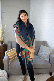 Toasty Plaid Blanket Scarf