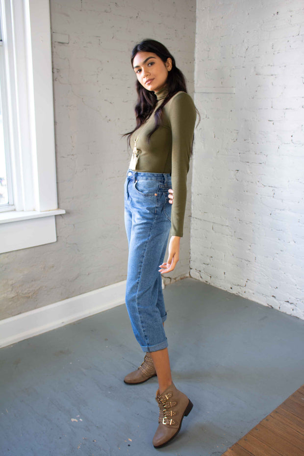 Downtown Dreams Turtleneck Olive
