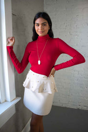 Downtown Dreams Turtleneck Red