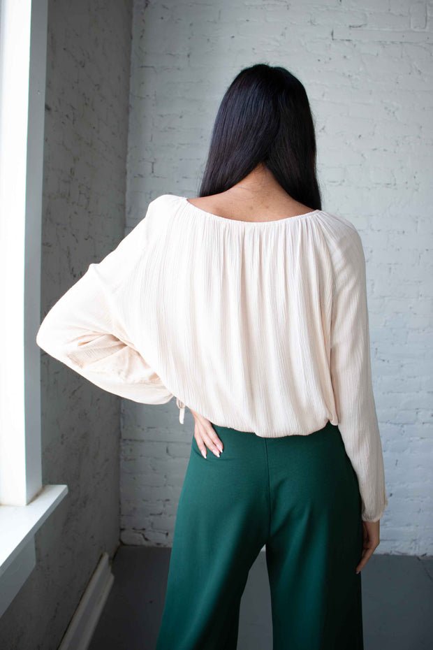 Like a Dream Off The Shoulder Top Cream