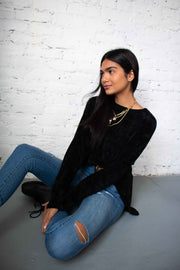 On The Warm Side Sweater Black