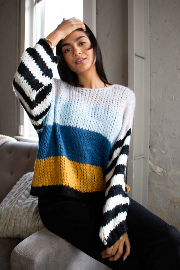 Parallel Lines Striped Sweater