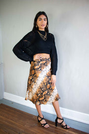 Stun and Only Midi Skirt Snake