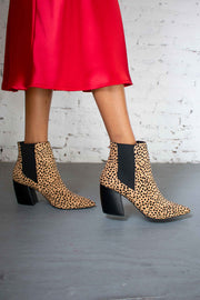 Spot On Leopard Boots Tan