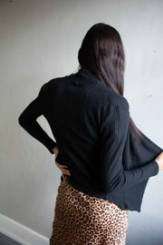 Drape Me Away Cardigan Black