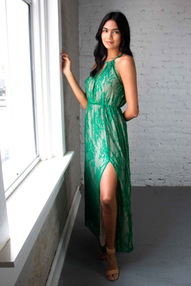 Could Be The One Maxi Dress Green