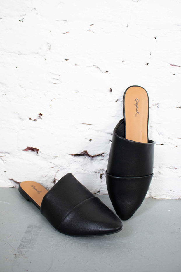 Sleek The Truth Mules Black