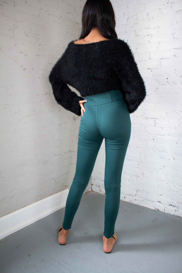 Life of the Party Pants Teal Green