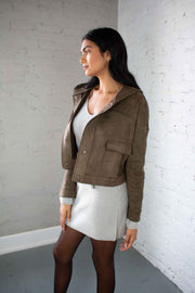 Suede My Day Jacket Olive