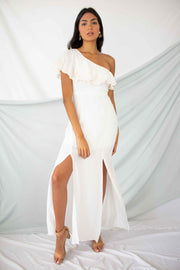 Everlasting Impression One Shoulder Maxi Dress Ivory