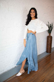 Textured Touch Maxi Skirt
