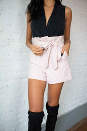 All Around Striped Shorts Pink